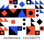 trendy geometric elements... | Shutterstock .eps vector #1121264771