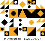 trendy geometric elements... | Shutterstock .eps vector #1121264774