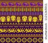 tribal ethnic seamless pattern. ... | Shutterstock .eps vector #1121265011