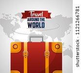 travel around the world | Shutterstock .eps vector #1121266781