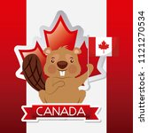 canada day card | Shutterstock .eps vector #1121270534