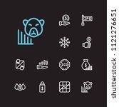 finance trading icons set....   Shutterstock .eps vector #1121276651
