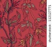 vector floral  seamless pattern ... | Shutterstock .eps vector #112127771