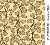vector floral  seamless pattern | Shutterstock .eps vector #112127807