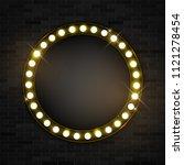 round banner frame  glowing... | Shutterstock .eps vector #1121278454
