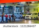 gas station in tokyo   tokyo  ... | Shutterstock . vector #1121286437