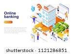 online banking modern flat... | Shutterstock .eps vector #1121286851