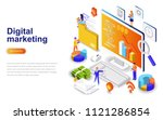 digital marketing modern flat... | Shutterstock .eps vector #1121286854
