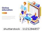 online education modern flat... | Shutterstock .eps vector #1121286857