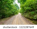 rural countryside unpaved road...   Shutterstock . vector #1121287649