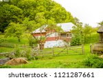 old house in a rural...   Shutterstock . vector #1121287661