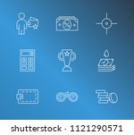 commerce icon set and coin with ...