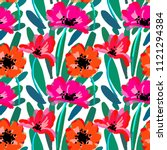 vector seamless pattern with... | Shutterstock .eps vector #1121294384