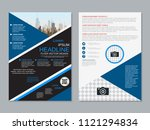 modern business two sided flyer ... | Shutterstock .eps vector #1121294834