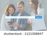 search seo online internet... | Shutterstock . vector #1121308847