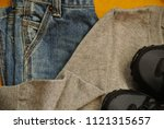 school clothes  for boy  jeans  ... | Shutterstock . vector #1121315657
