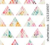 template seamless geometric... | Shutterstock .eps vector #1121318507