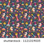 vector seamless pattern with... | Shutterstock .eps vector #1121319035