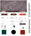 dark red vector ui kit with...