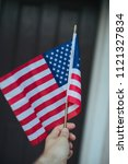 american flag on july 4th... | Shutterstock . vector #1121327834