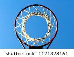 basketball net and hoop... | Shutterstock . vector #1121328161