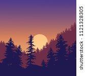 natural landscape of sunset in...   Shutterstock .eps vector #1121328305