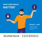 what does really matter. young... | Shutterstock .eps vector #1121331011