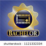shiny badge with certificate... | Shutterstock .eps vector #1121332334