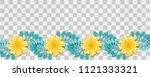 set paper cut vector art.... | Shutterstock .eps vector #1121333321