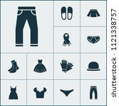 garment icons set with blouse ... | Shutterstock .eps vector #1121338757