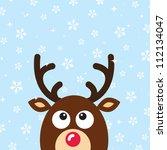 vector reindeer christmas card...   Shutterstock .eps vector #112134047