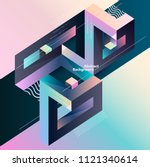 abstract multicolor geometrical ... | Shutterstock .eps vector #1121340614