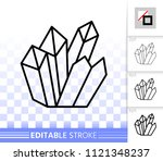 crystal thin line icon. outline ... | Shutterstock .eps vector #1121348237