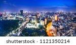 night view of tokyo urban area... | Shutterstock . vector #1121350214