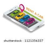 renting a new or used car. car... | Shutterstock .eps vector #1121356337