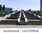 stairs to the gulf of cheboksary | Shutterstock . vector #1121359814
