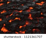 molten lava texture background. ... | Shutterstock . vector #1121361707