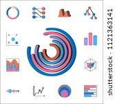 pie charts icon. detailed set...