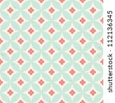 seamless vintage pattern.... | Shutterstock . vector #112136345