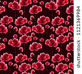 seamless pattern with flowers ... | Shutterstock . vector #1121369984