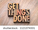 get things done   word abstract ... | Shutterstock . vector #1121374331