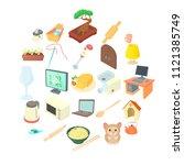 convenience icons set. cartoon... | Shutterstock .eps vector #1121385749