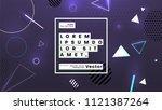 neon glow futuristic background.... | Shutterstock .eps vector #1121387264