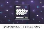 neon glow futuristic background.... | Shutterstock .eps vector #1121387297
