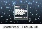 neon glow futuristic background.... | Shutterstock .eps vector #1121387381
