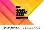 geometric background pattern... | Shutterstock .eps vector #1121387777