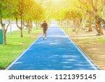 elderly people motion running...   Shutterstock . vector #1121395145