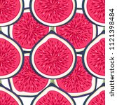 seamless pattern with halves... | Shutterstock .eps vector #1121398484