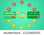interest on credit card | Shutterstock . vector #1121403251
