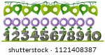 a set of number with flower... | Shutterstock .eps vector #1121408387